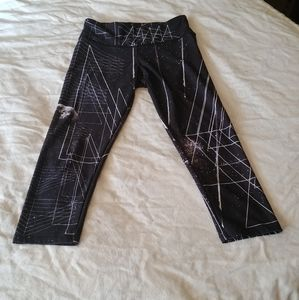 Small/Medium Onzie Crop Leggings Space Pattern